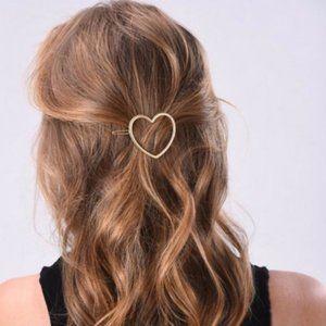 Brandy Melville Gold Metal Heart Hair Clip Barrett
